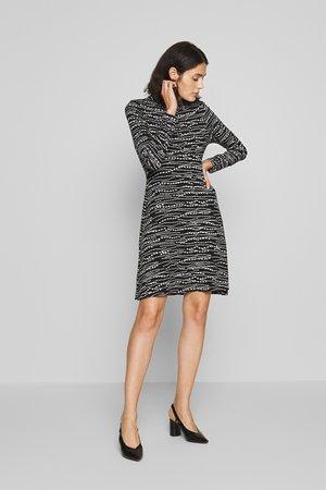 BEAD PRINT SHIRT DRESS - Jersey dress - black