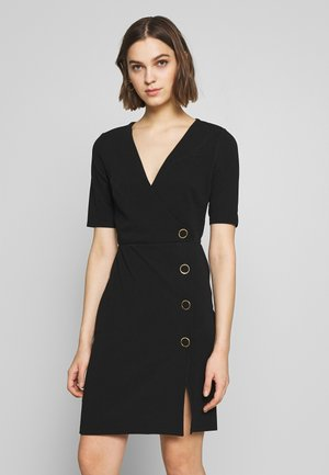 BUTTON DETAIL SHIFT DRESS - Etui-jurk - black