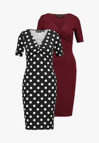 Dorothy Perkins - SPOT RUCHED FRONT BODYCON 2 PACK - Sukienka etui - purple - 5