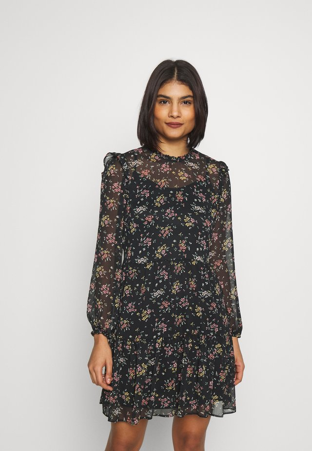 DITSY RUFFLE SMOCK DRESS - Sukienka letnia - black