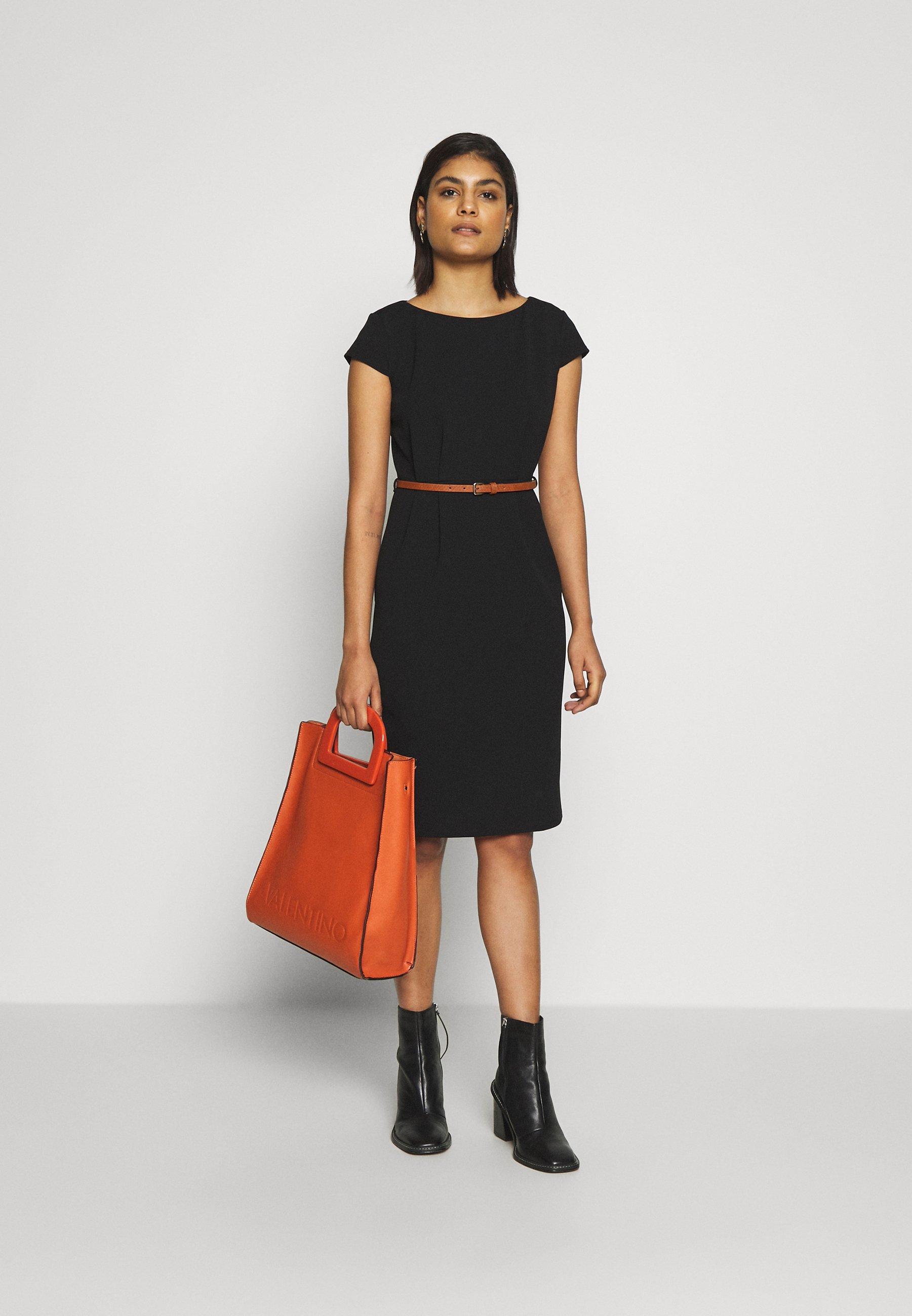Dorothy Perkins Contrast Belted Pencil Dress - Fodralklänning Black