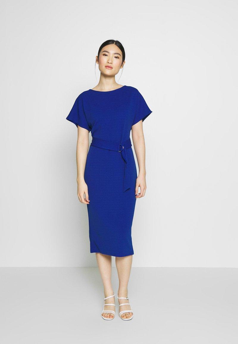 Dorothy Perkins - D RING MIDI DRESS - Jerseyklänning - cobalt