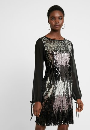 SEQUIN SHIFT - Vestido de cóctel - black