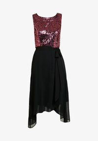 Dorothy Perkins - SEQUIN BODICE FIT AND FLARE MIDI - Juhlamekko - oxblood - 5
