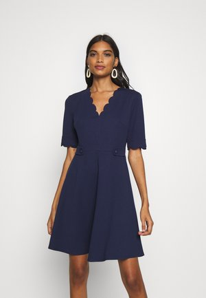 SCALLOPED DETAIL - Day dress - navy