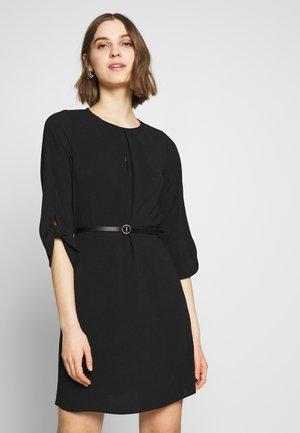 TIE SLEEVE BELTED SHIFT - Shift dress - black