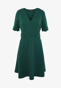 Dorothy Perkins - SCALLOPED DETAIL DRESS - Jerseykjole - green - 4