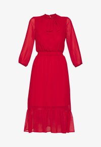 Dorothy Perkins - PLAIN PUSSYBOW FRILL DRESS - Sukienka letnia - red - 4