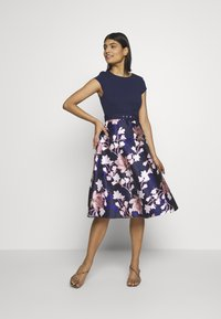 Dorothy Perkins - LUXE SOLID BODICE BELTED MIDI DRESS - Cocktailkjole - blue - 1