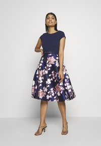 Dorothy Perkins - LUXE SOLID BODICE BELTED MIDI DRESS - Cocktailkjole - blue - 0