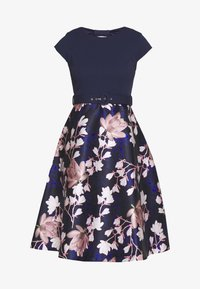 Dorothy Perkins - LUXE SOLID BODICE BELTED MIDI DRESS - Cocktailkjole - blue - 5