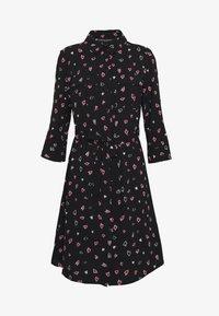 Dorothy Perkins - HEART CHANNEL WAIST SHIRT DRESS - Shirt dress - black - 4