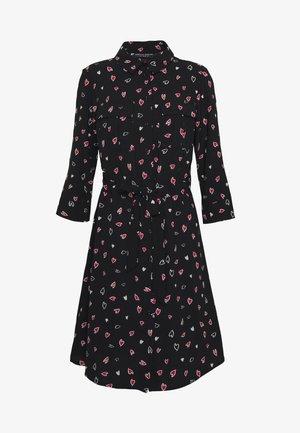 HEART CHANNEL WAIST SHIRT DRESS - Abito a camicia - black