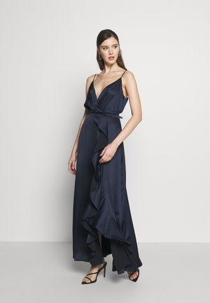 ISSY CAMI RUFFLE SPLIT - Robe de cocktail - navy