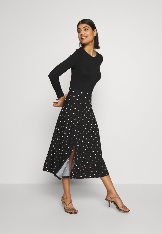 SPOT DRESS - Shift dress - black