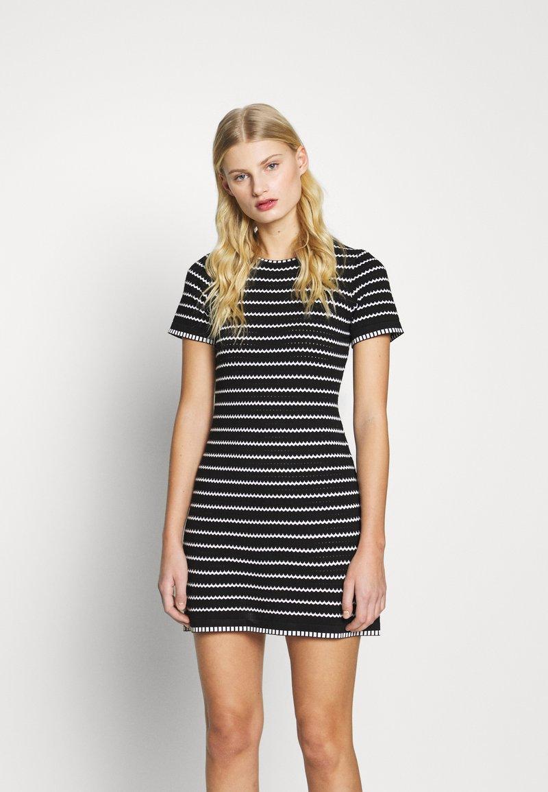 Dorothy Perkins - STRIPE DRESS - Jumper dress - black