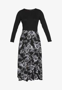 Dorothy Perkins - FLORAL PRINT MIDI DRESS - Sukienka z dżerseju - black - 4