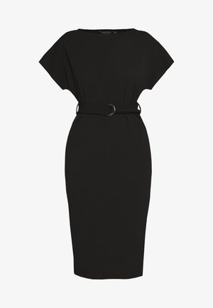 D RING MIDI DRESS - Vestido ligero - black