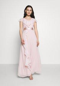 Dorothy Perkins - RILEY RUFFLE DETAIL SOFT SLEEVE MAXI DRESS - Galajurk - blush - 1