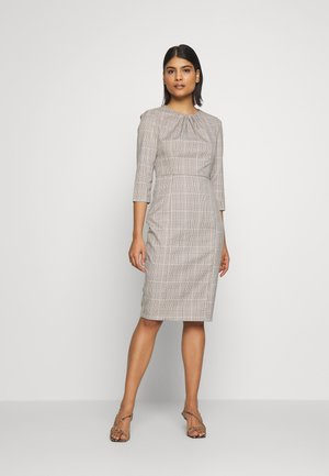 CHECK HIGH NECK SLEEVE DRESS - Shift dress - multi bright