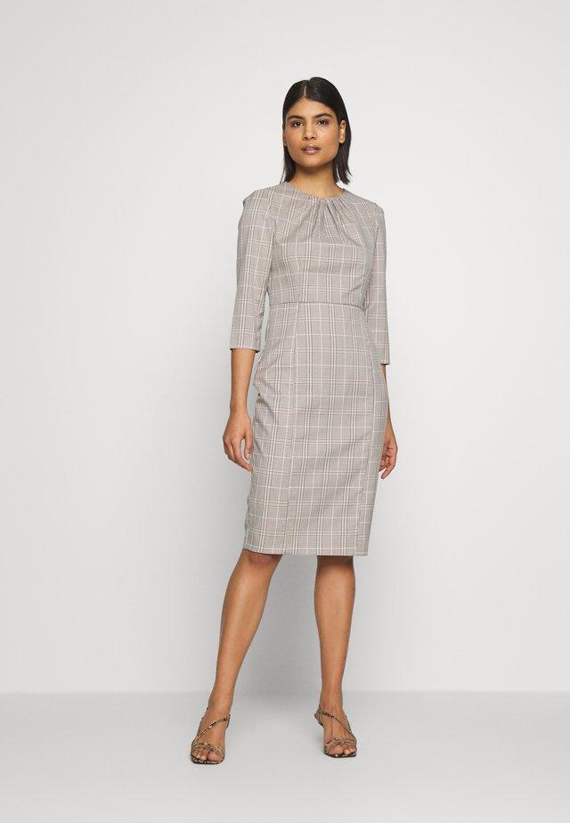 CHECK HIGH NECK SLEEVE DRESS - Kotelomekko - multi bright