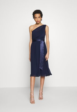 JENNI SHOULDER MIDI DRESS - Vestido de cóctel - navy