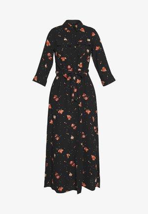 FLORAL DRESS - Maxi šaty - black