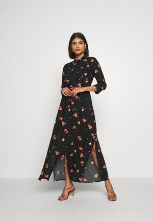 FLORAL DRESS - Maxi dress - black