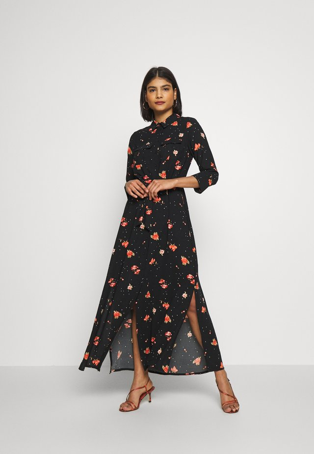 FLORAL DRESS - Maxi-jurk - black