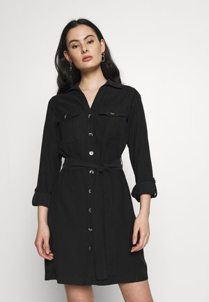 UTILITY SHIRT DRESS - Vestido informal - black