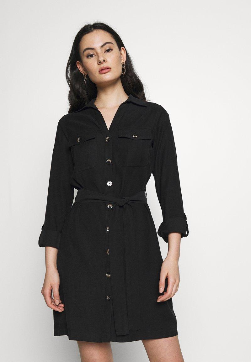 Dorothy Perkins - UTILITY SHIRT DRESS - Freizeitkleid - black