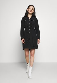 Dorothy Perkins - UTILITY SHIRT DRESS - Freizeitkleid - black - 3