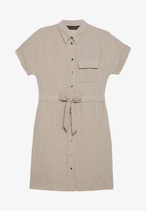 UTILITY DRAWCORD STONE SHIRT DRESS - Shirt dress - stone