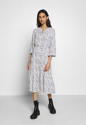 DITSY SMOCK MIDI DRESS - Day dress - white
