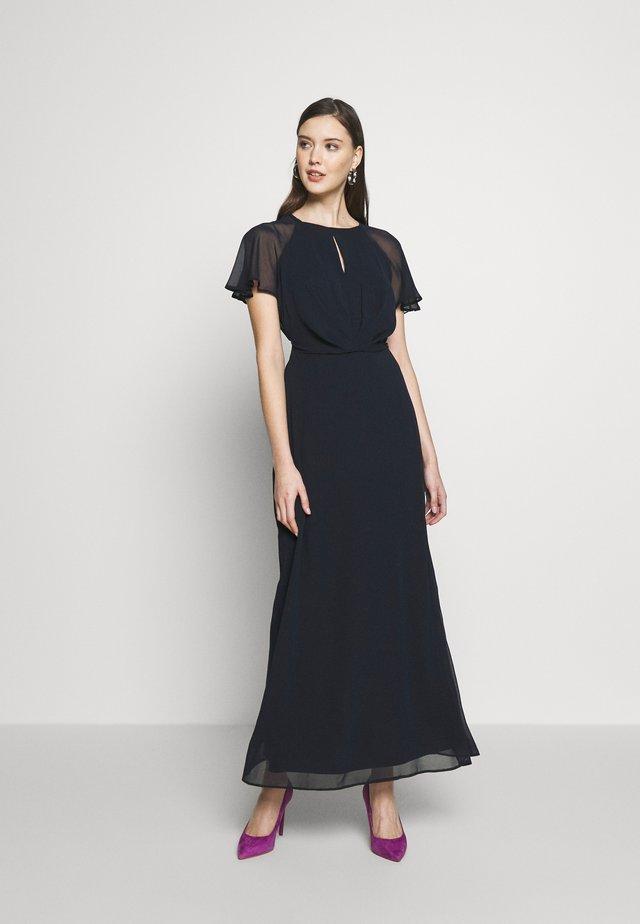 BLUSH PLEAT FRONT KEYHOLE MAXI DRESS - Iltapuku - dark blue