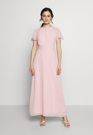 BLUSH PLEAT FRONT KEYHOLE MAXI DRESS - Iltapuku - pink
