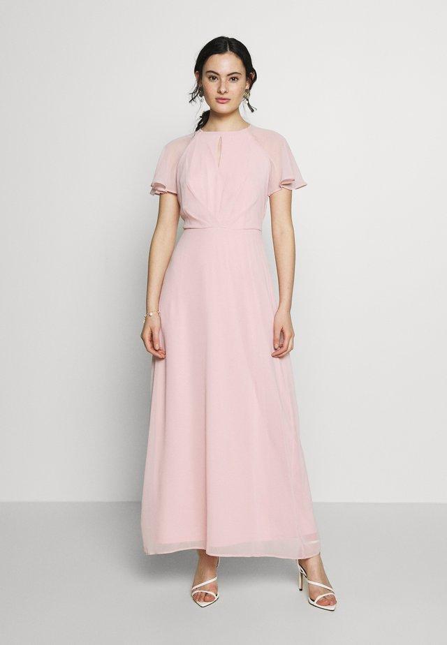 BLUSH PLEAT FRONT KEYHOLE MAXI DRESS - Iltapuku - pink