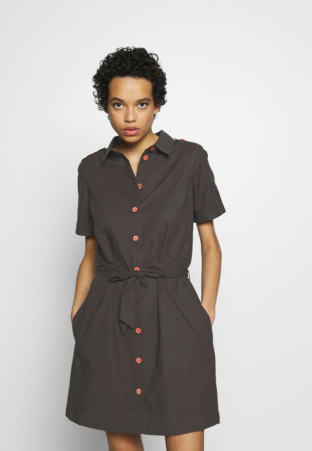 DRESS - Shirt dress - khaki