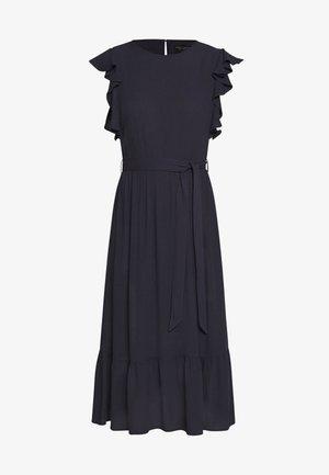 CRINKLE RUFFLE SLEEVE DRESS - Day dress - navy