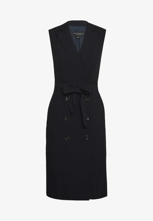 BUTTON SKIRT TRENCH DRESS - Shift dress - dark blue