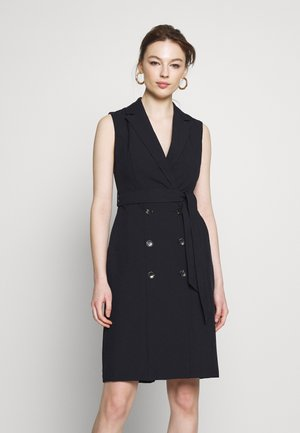 BUTTON SKIRT TRENCH DRESS - Etui-jurk - dark blue