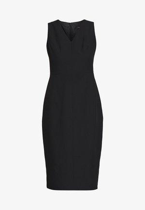 BUTTON SKIRT TRENCH DRESS - Etuikjole - black