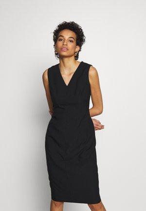 BUTTON SKIRT TRENCH DRESS - Vestido de tubo - black