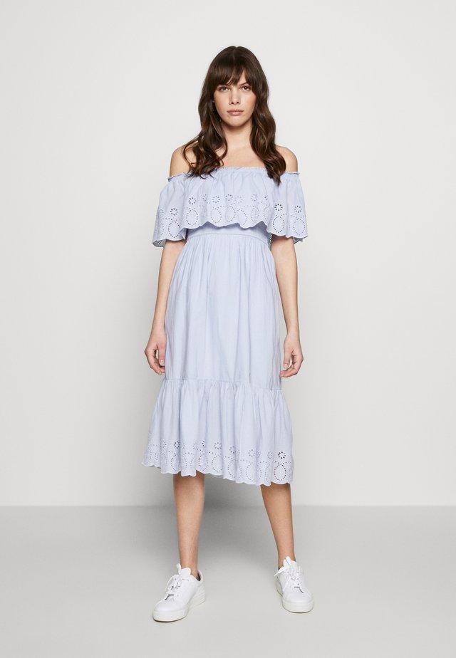 BRODERIE TIERED FRILL DRESS - Kjole - blue