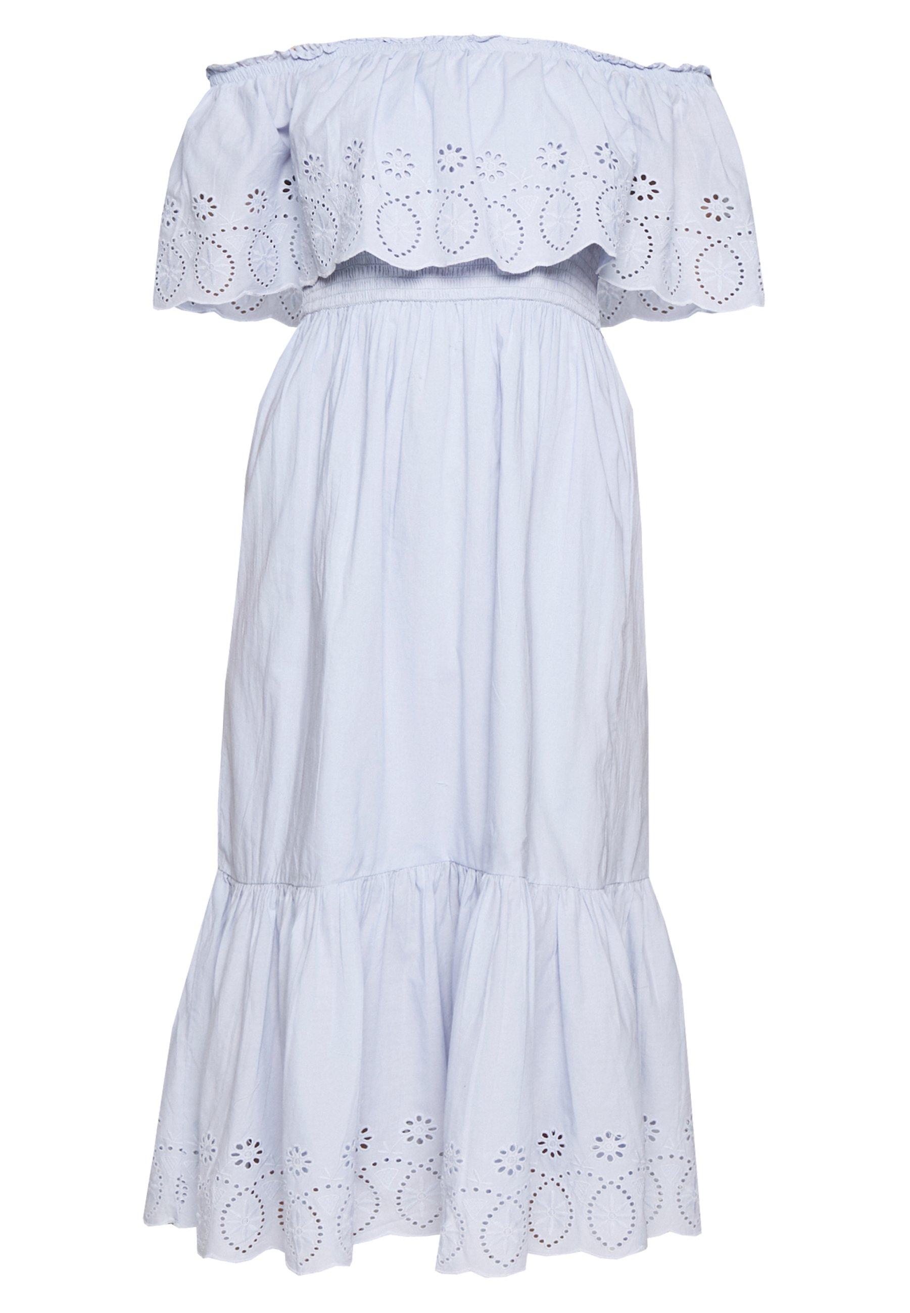 Dorothy Perkins BRODERIE TIERED FRILL DRESS - Sukienka letnia - blue