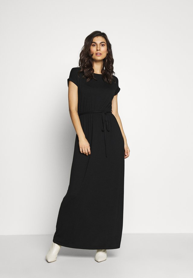 PLAIN ROLL SLEEVE DRESS - Maxi dress - black