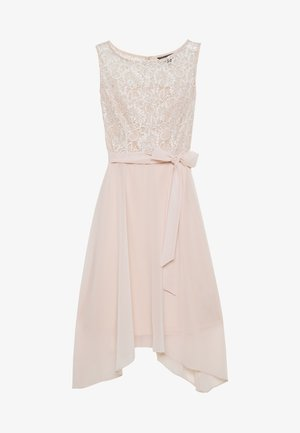 BILLIE LABEL HIGH LOW MIDI DRESS - Cocktailjurk - blush