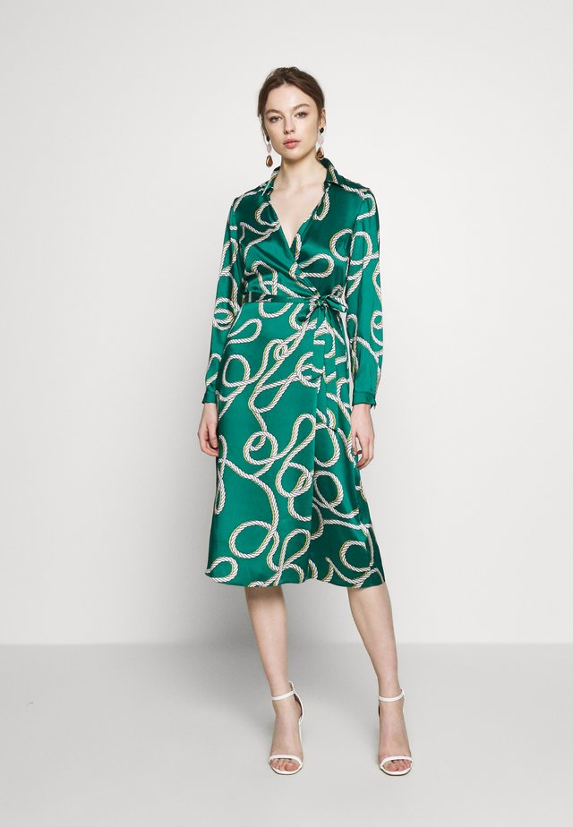 ROPE PRINT COLLAR SHIRT DRESS - Day dress - green