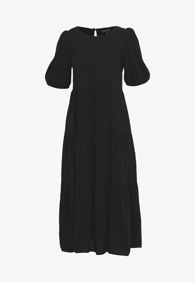 POPLIN SMOCK DRESS - Korte jurk - black