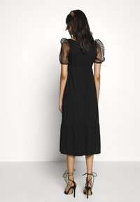 Dorothy Perkins - ORGANZA SLEEVE TIERED MIDAXI DRESS - Day dress - black - 2